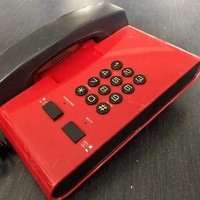 S.t.y. electronics s28mh telephone vintage red and black