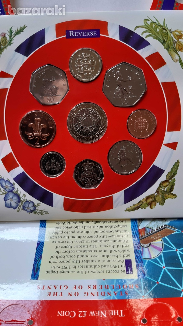Uk 1997 uncirculated coin set in blister-5