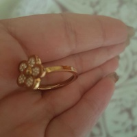 Rose gold folli follie ring