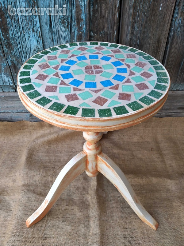Round mosaic table top.-5