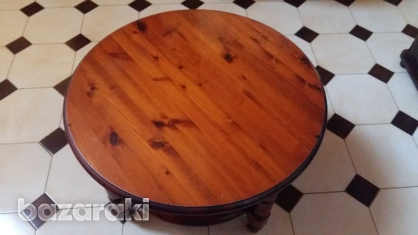 Solid wooden pine rosedale round coffee table-1