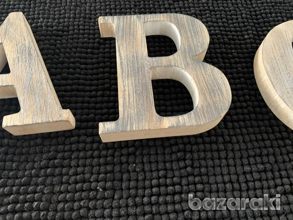 Zara home letters a b cdecoration from wood-5