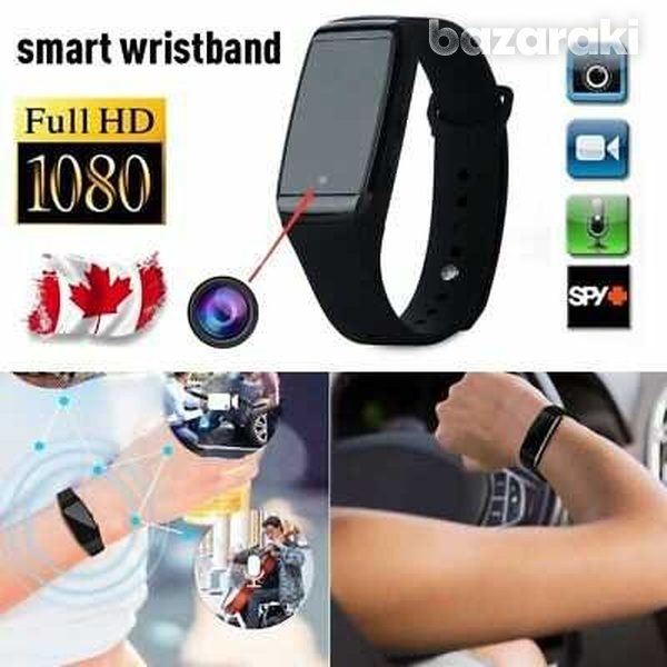 K68 smart sports fitness bracelet hd 1080p camera mini audio video rec-3