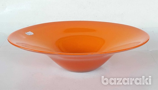 Vintage art glass bowl 23.5x8cm in very good condition for decor-2