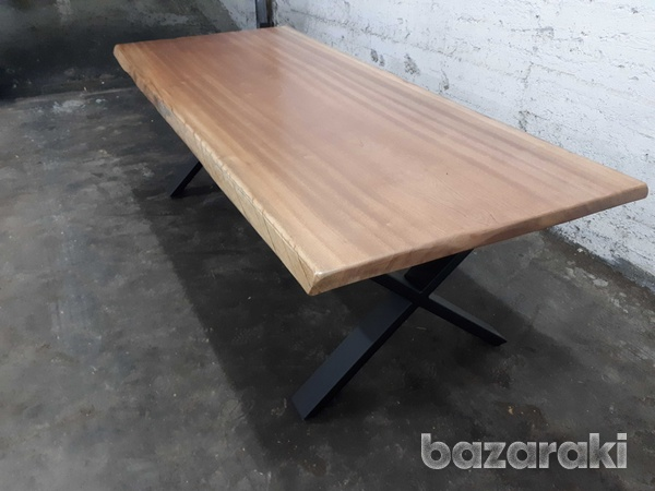Natural african sapele wood dining table-4