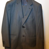 Men grey slim suit jacket pant l