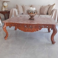 Coffee table and 2 side tables with marble on top