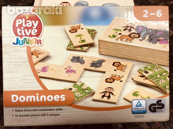Wooden dominoes game-1