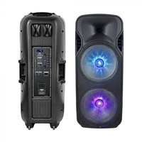 40w rechargeable trolley speaker wireless wired microphone rf control