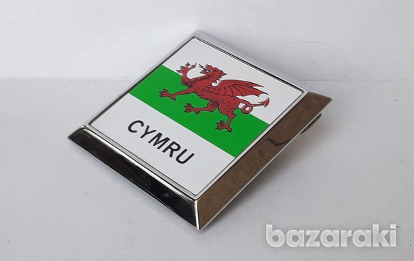 Vintage collectible classic cars badge cymru wales new never used-3