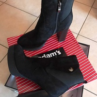Adams black ankle boots