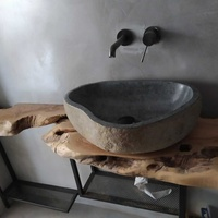 Sink unit made with natural olive wood