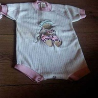 Baby girl sleepsuit vests 0-3 months - three available