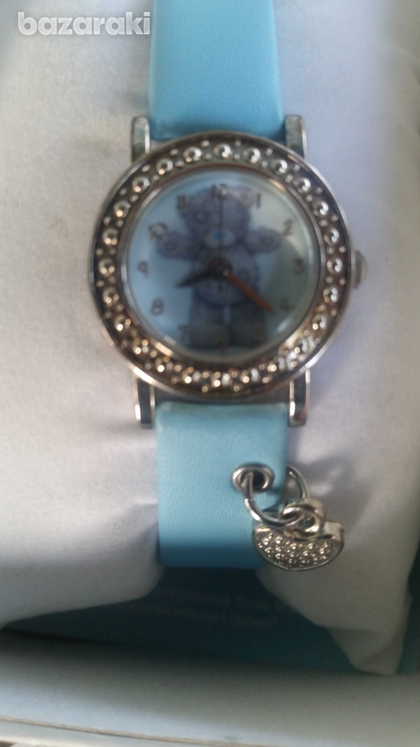 Childrens-girls analogue me to you tatty teddy blue strap watch with c-1