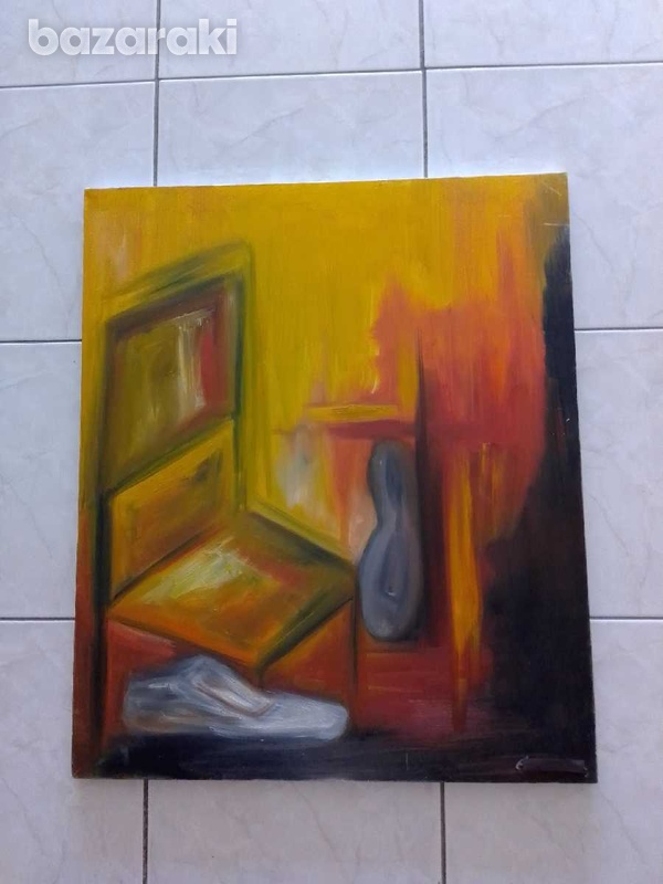 Artist original paint 70 x 85 oil on canvas signed by the artist.-2