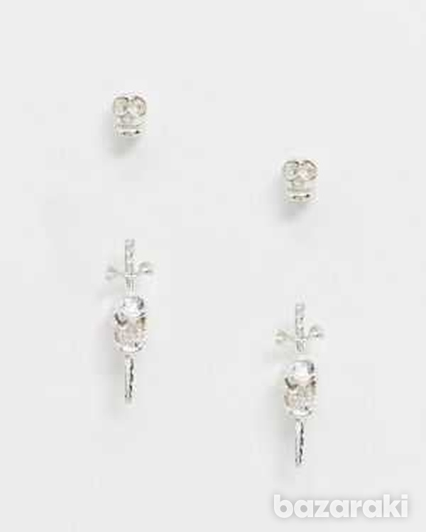 Kingsley ryan earring stud multipack x 2 in sterling silver-1