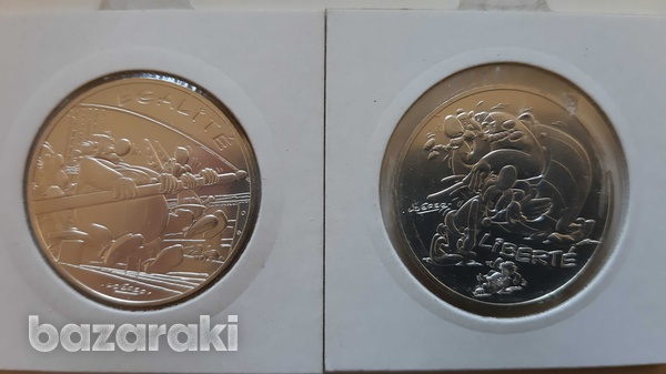 France 12 silver collector's coins with asterix - look at the pictures-3