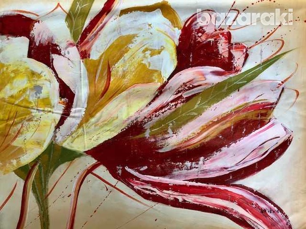 Abstract painting oil on canvas