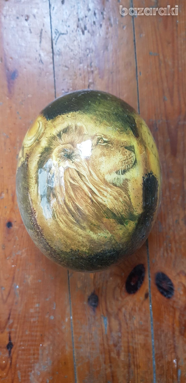 Hand painted ostrich egg-1