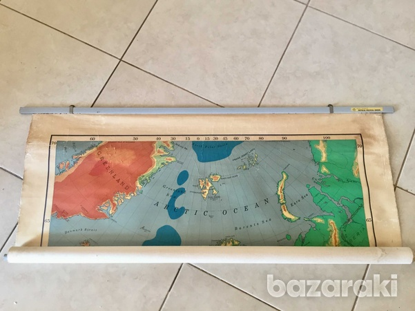 Rand mcnally vintage roll-down map of europe.-3