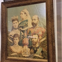 British royal family - original antique frame