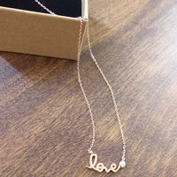 New silver 925 love necklaces