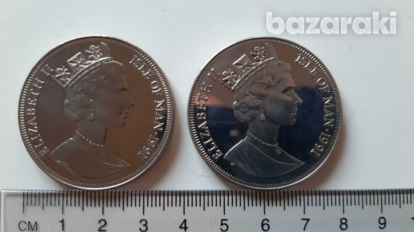 Charles and diana 10th wedding anniversary - 2 crowned-sized coins-2