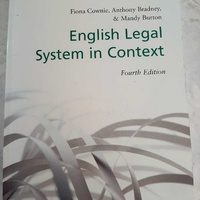 Oxford english legal system in context book