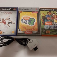Playstation 2 eye toy camera with 3 games