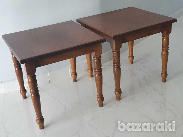 Two wooden side tables-1