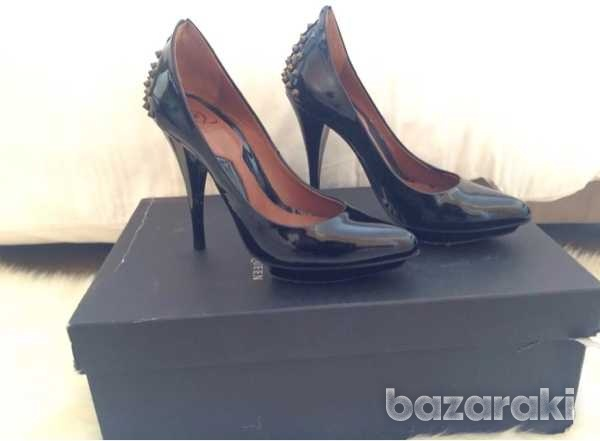 Mcq alexander mcqueen studded patent leather pumps black size 35-35.5-8