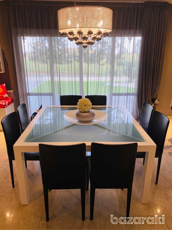 Square dining table with chairs-6