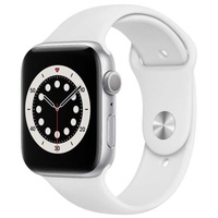 Apple watch 6 gps 44 mm silver alu white sport band - stock
