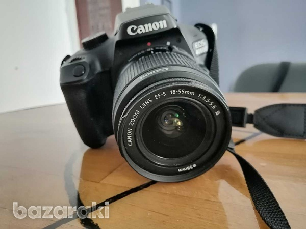 Canon eos 4000d + 18-55mm dc iii + 2 batteries-1