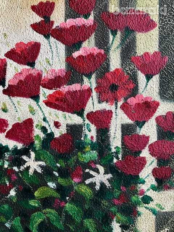 Fields flowers for princess oil on canvas-2
