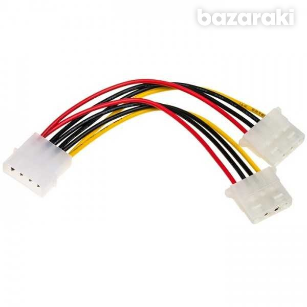 Molex to 2 x molex power splitter cable-1