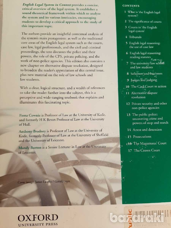 Oxford english legal system in context book-2