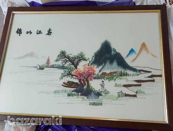 Chinese knitted piece of art-1