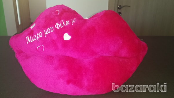 Pillow in the shape of lips