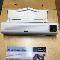 A3 laminating machine and pouches