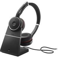 Jabra evolve 75 ms link 370 incl. headset charging stand - stock