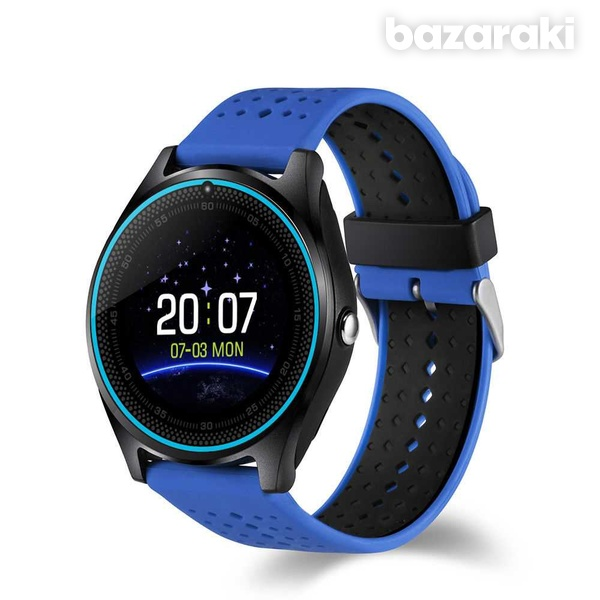 New v9 smart watch with sim card slot camera bluetooth for android ios-3