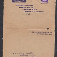 Code h198 cyprus 1963 mailed cover to england