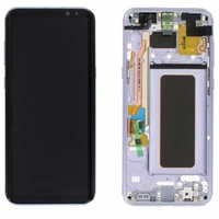 Lcd-complete-frame-samsung-s8-plus-g955-orchid-gray-original