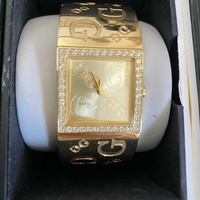 Guess gold wrist watch