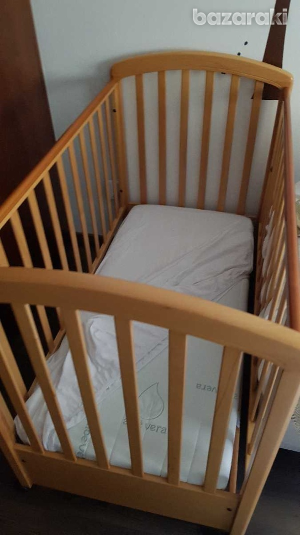 Baby bed with mattress-4