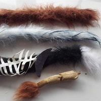 Carnival - set of four animal tails.