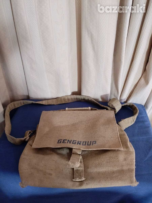 An american post officer bag of general during war.-1
