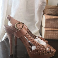 Leather carvela high heel sandals 40