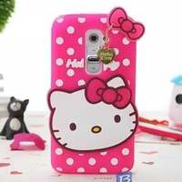 Case for lg g2 cute 3d hello kitty cat tpu silicone back cover pink